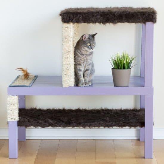 diy cat entertainment unit