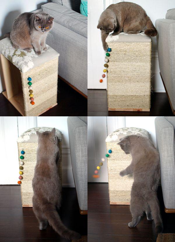 diy sisal scratching board