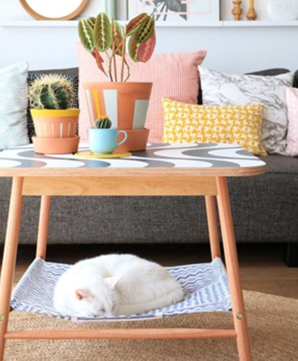 coffee table cat hammock