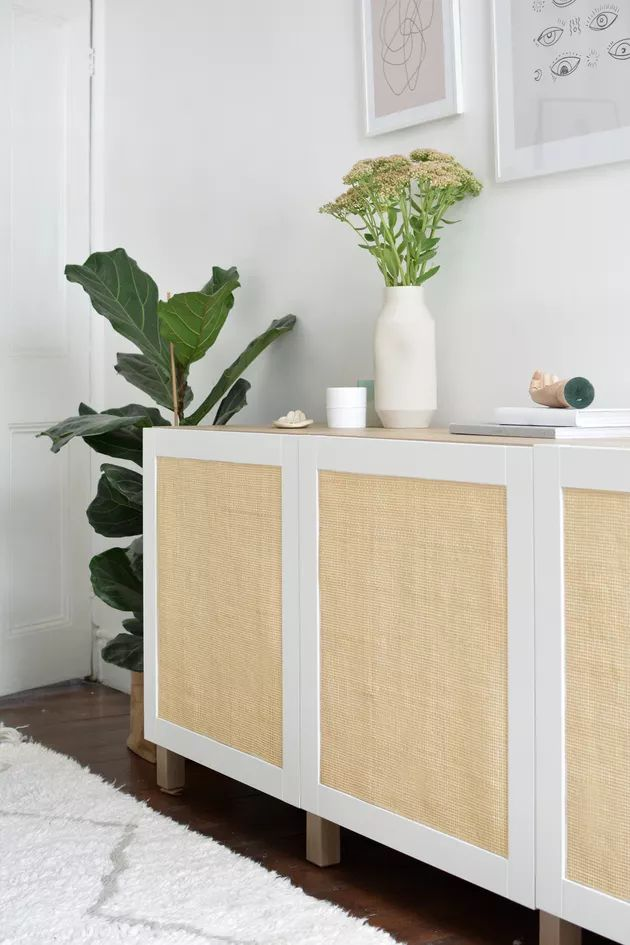 DIY Cane Sideboard