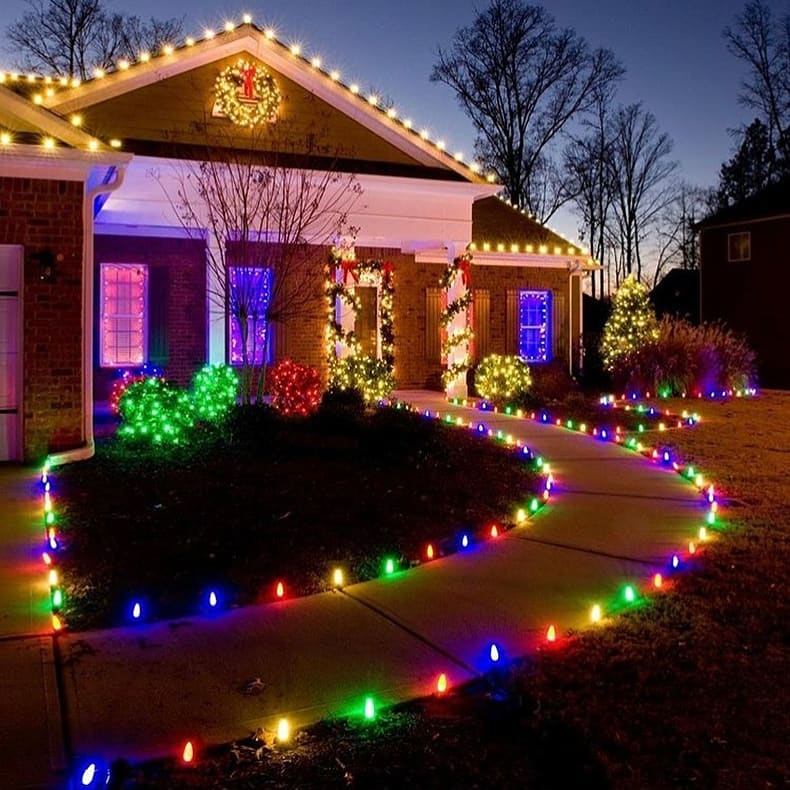 Colorful Christmas Path
