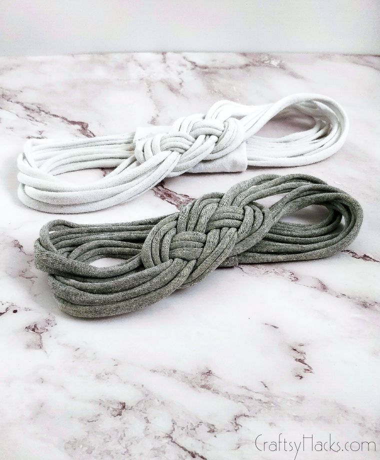 grey and white headbands