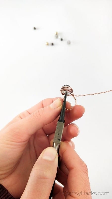 wrapping wire around bead