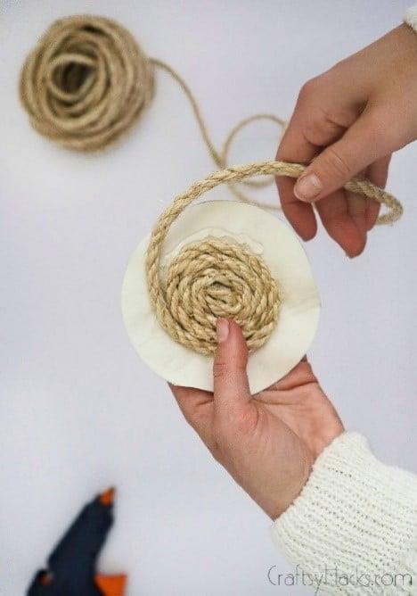 looping rope around