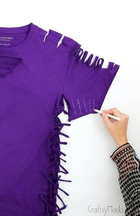 marked lines on sleeve