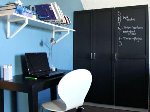 Chalkboard closet front