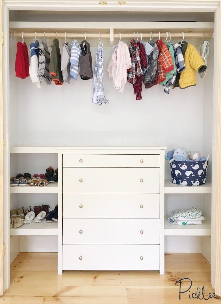 nursery closet dresser