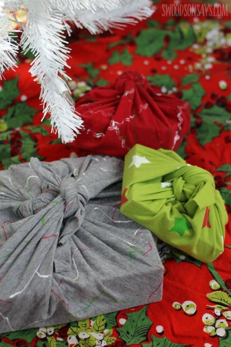 upcycled gift wraps