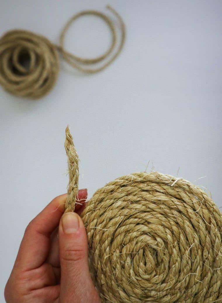 glueing end of rope