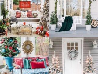 20 Christmas Porch Decorations