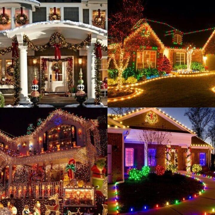20 Outdoor Christmas Light Ideas