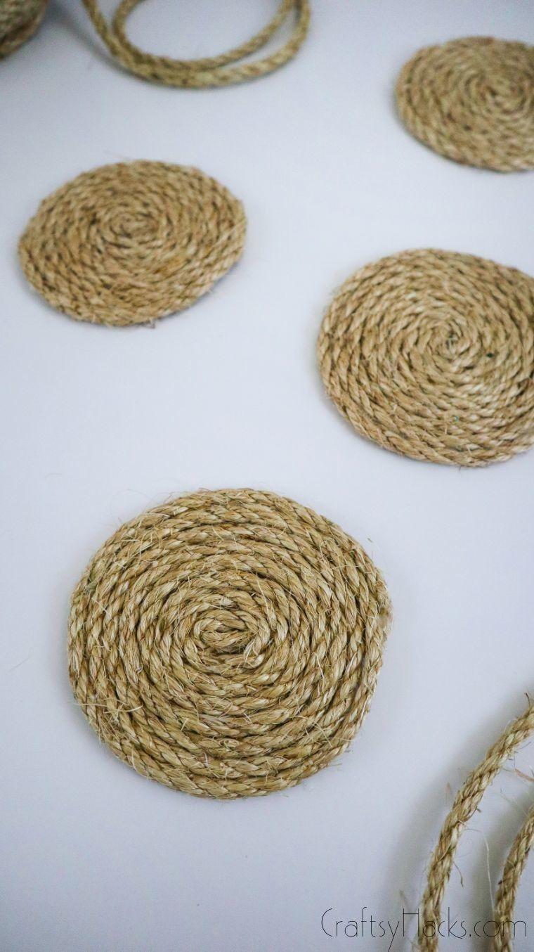 displayed rope coasters