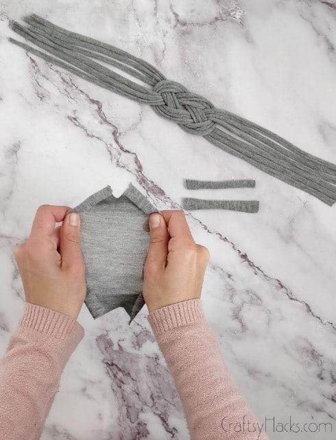 stretching fabric squares