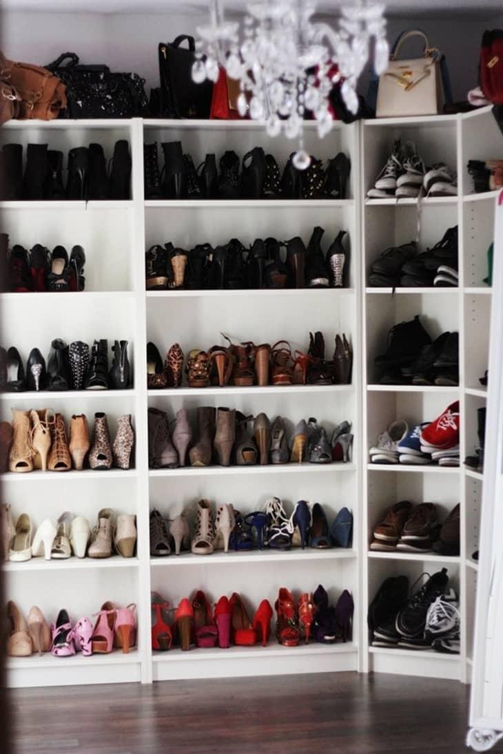 IKEA Billy Bookcase shoe shelving