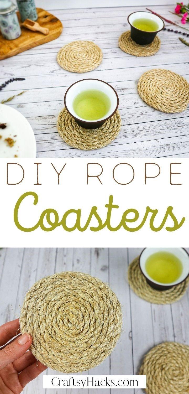 diy rope coasters