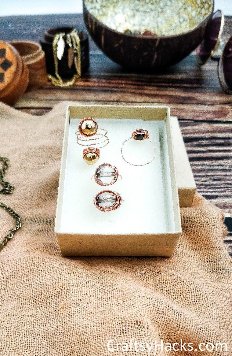 close up of ring box