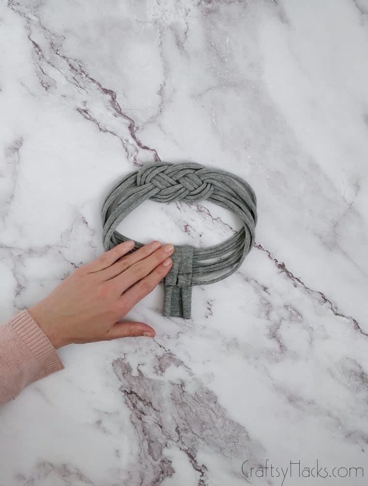 folding over headband end