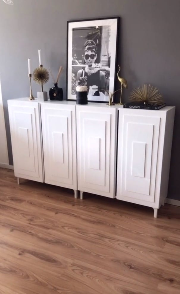 DIY art deco cabinet