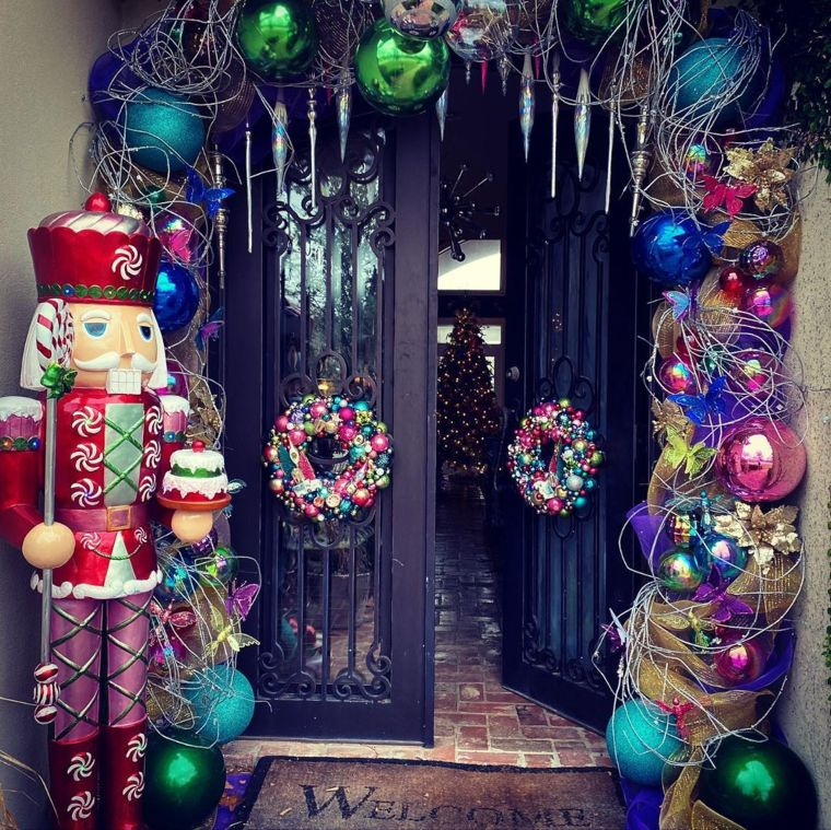 Psychedelic Christmas Porch