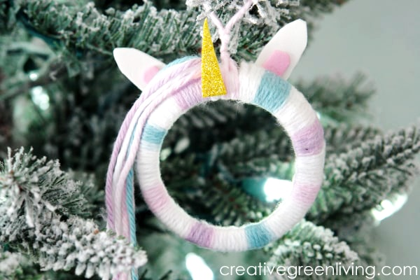 Mason Jar Unicorn Ornament