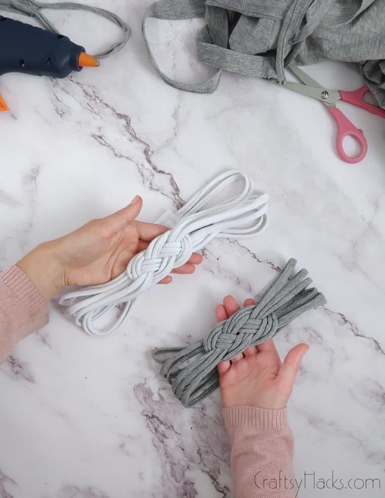 hands holding diy headbands