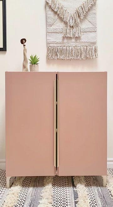 retro pink doors