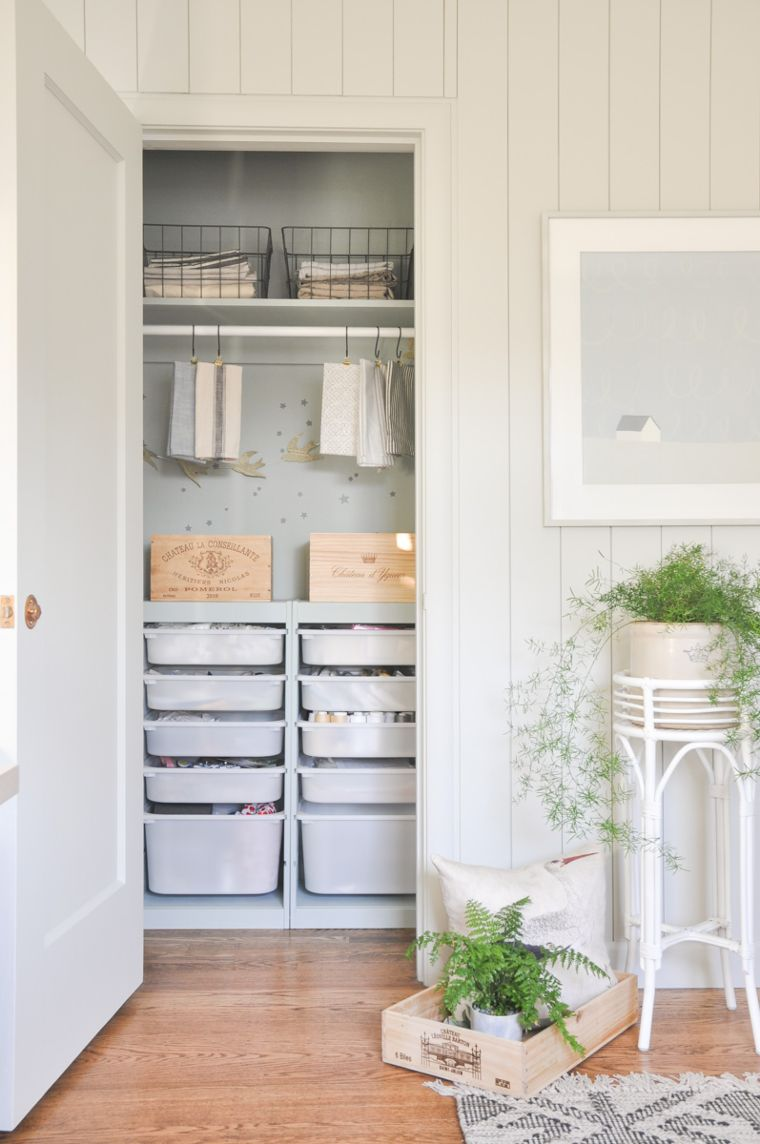 Trofast closet storage