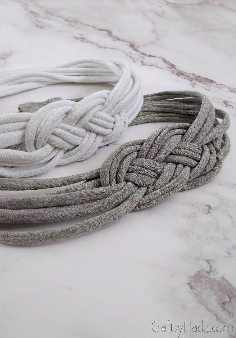 white and grey headbands