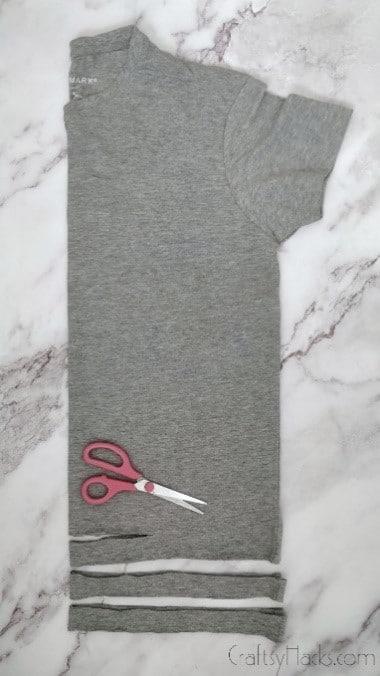 tshirt folded in half