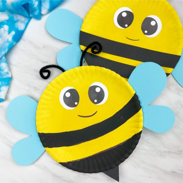 Bumblebee Paper Plates