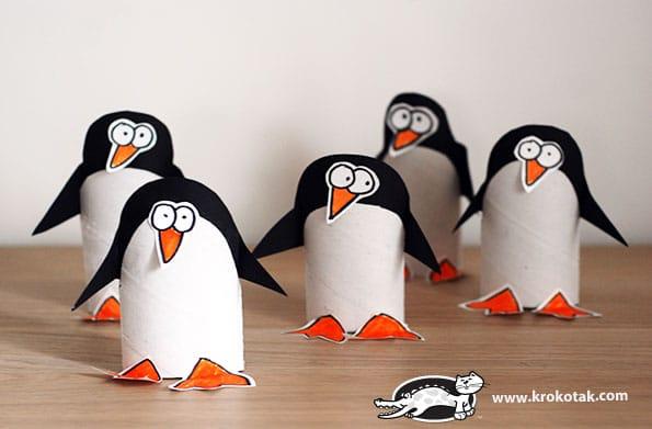 Toilet Paper Roll Penguins