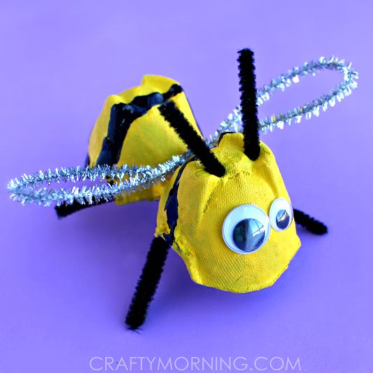 Egg Carton Bumble Bee Craft