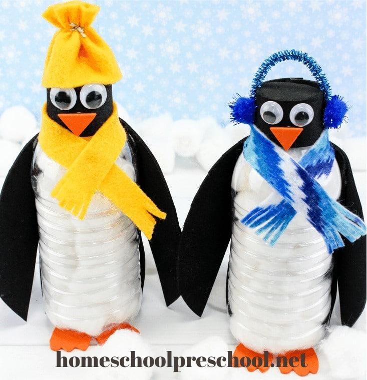 Water Bottle Penguin Craft