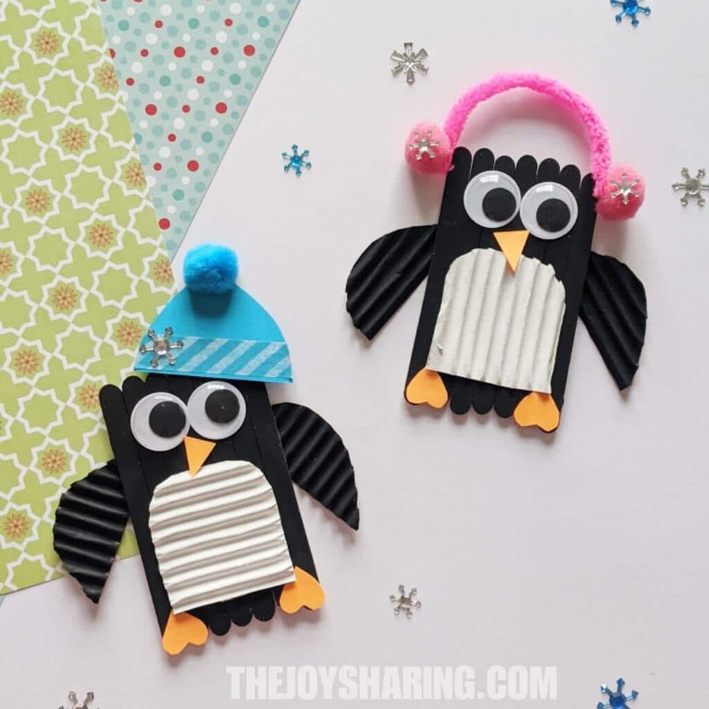 Popsicle Stick Penguins