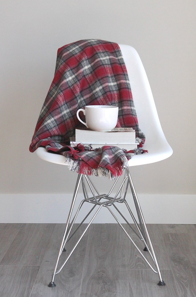 Fringed Flannel Throw