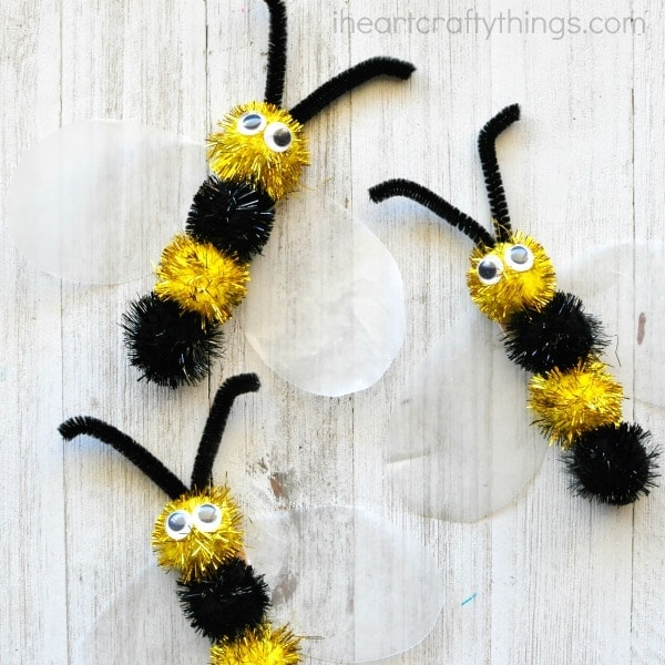 Fuzzy Bee Craft