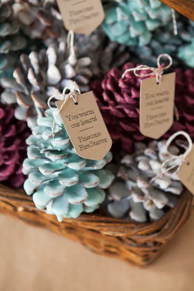 Pinecone Fire Starter Favours