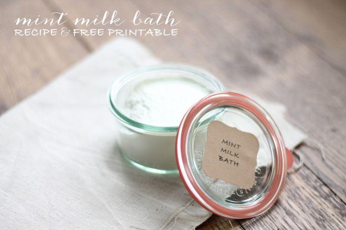 Mint Milk Bath Jar