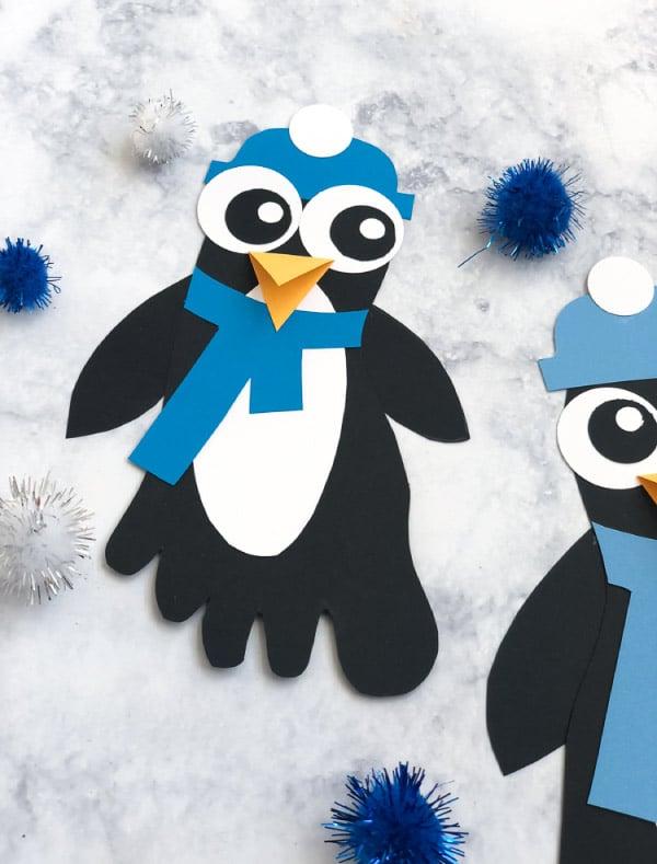 Footprint Penguin Paper Craft