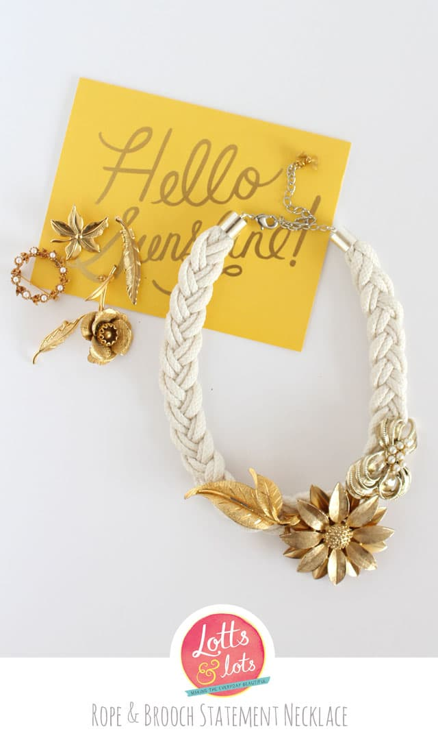 Rope and Brooch Statement Necklace