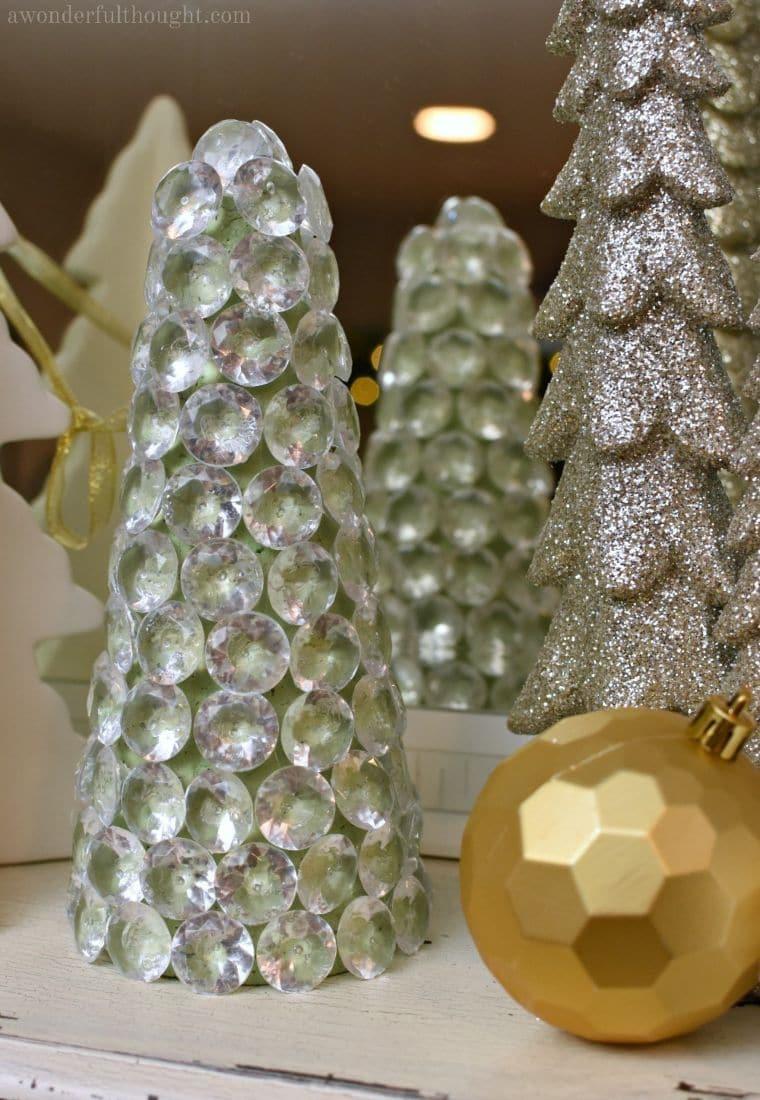 Sparkly Gem Christmas Trees