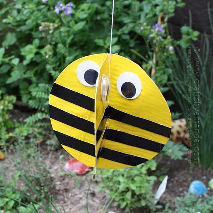 Duct Tape Twirling Bee Garden Decoration