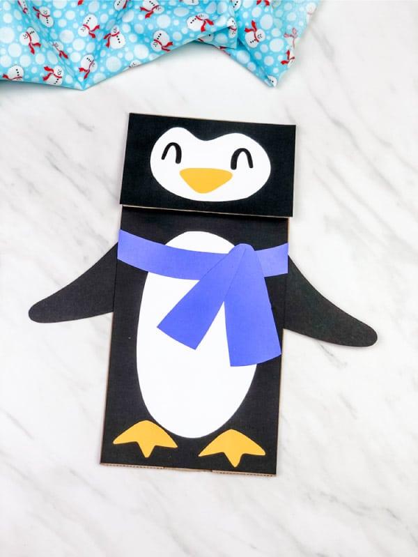 Penguin Paper Bag Puppet