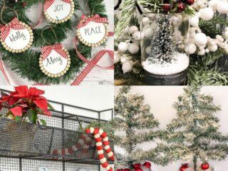 20 Farmhouse Dollar Store Christmas Ideas