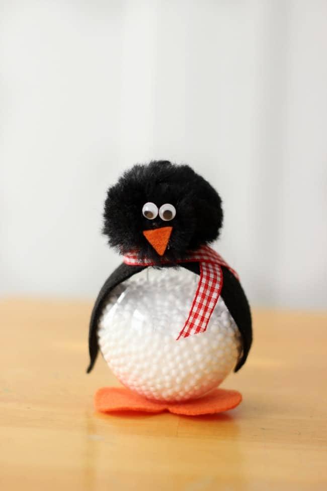 little penguin snowball ornament
