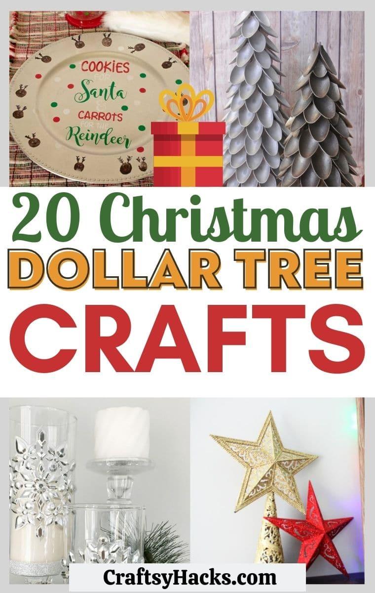 20 Cute Dollar Store Christmas Crafts Craftsy Hacks