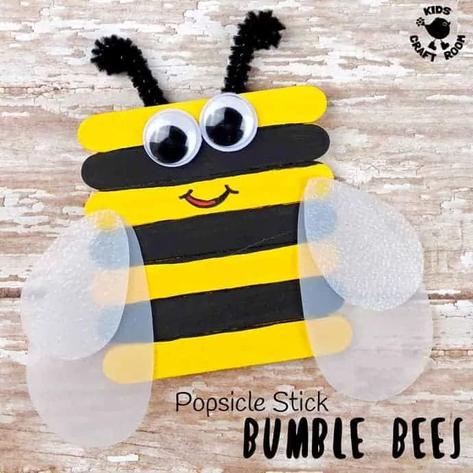Popsicle Stick Bumblebees