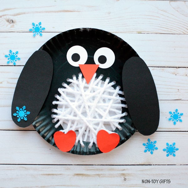 Woven Penguin Paper Plate