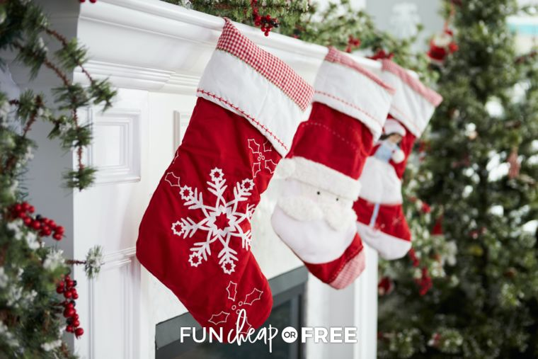 red santa stockings