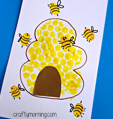 Bubble Wrap Beehive Card